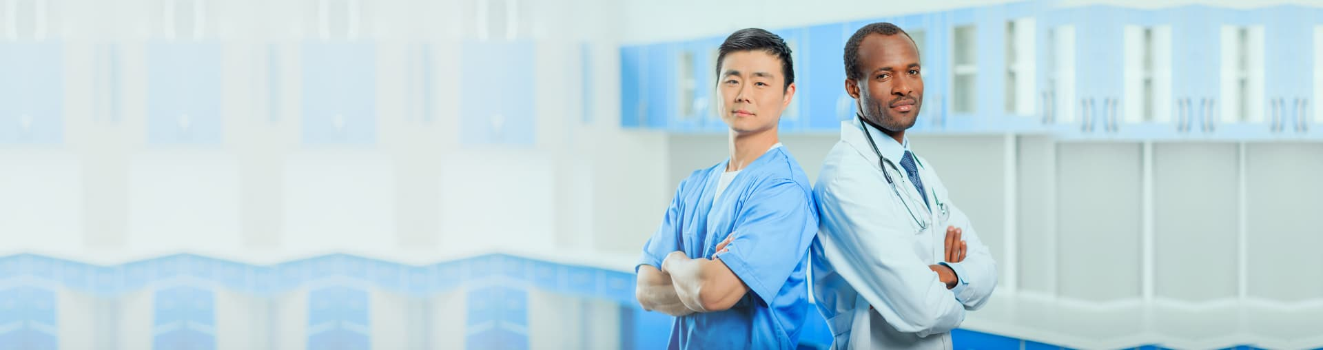 two doctors standing